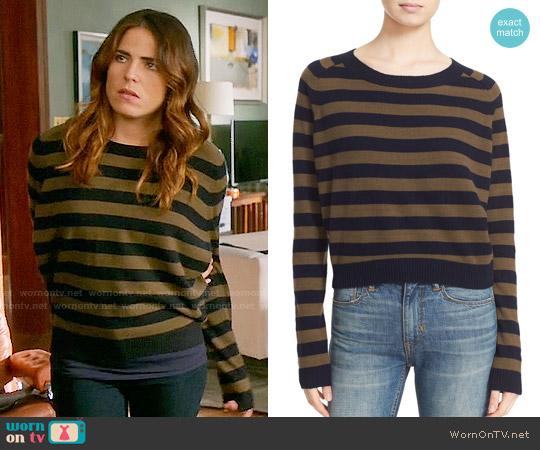 Vince Regiment Stripe Cashmere Sweater worn by Laurel Castillo (Karla Souza) on HTGAWM