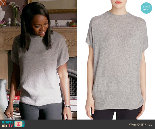 Vince High Neck Cashmere Sweater worn by Aja Naomi King on HTGAWM