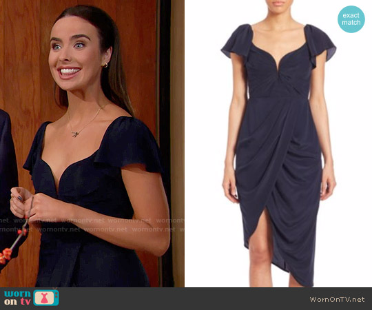 Zimmermann Silk Flutter Dress worn by Ivy Forrester (Ashleigh Brewer) on The Bold & the Beautiful