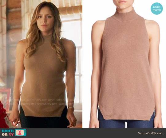 360 Cashmere Logan Top worn by Katharine McPhee on Scorpion