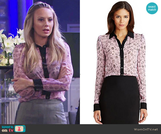 Diane von Furstenberg Mariah Blouse worn by Abby Newman (Melissa Ordway) on The Young & the Restless
