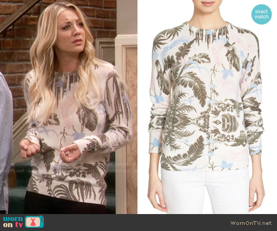 Equipment Sloan Floral Cashmere Sweater worn by Penny Hofstadter (Kaley Cuoco) on The Big Bang Theory