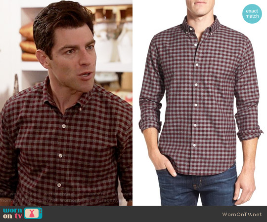 Bonobos Jaspé Gingham Poplin Sport Shirt worn by Schmidt (Max Greenfield) on New Girl