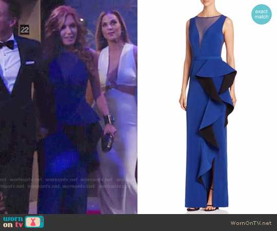 Nero by Jatin Varma Solid Illusion Neck Dress worn by Tracey Bregman on The Young & the Restless
