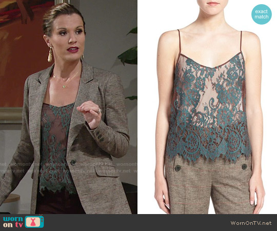 Olivia Palermo + Chelsea28 Lace Camisole worn by Chelsea Lawson (Melissa Claire Egan) on The Young & the Restless