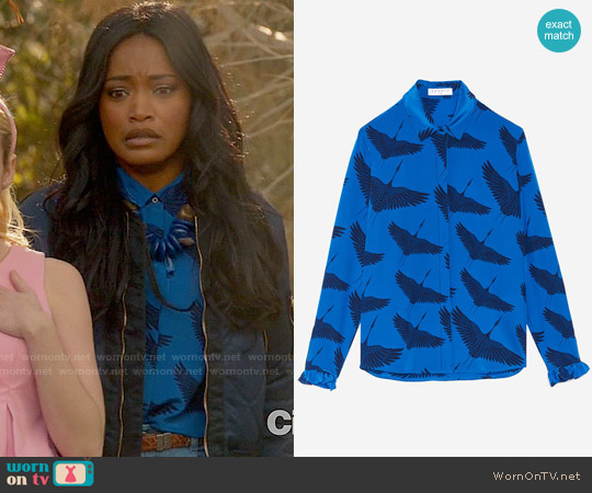 Sandro Lena Shirt worn by Zayday Williams on Scream Queens