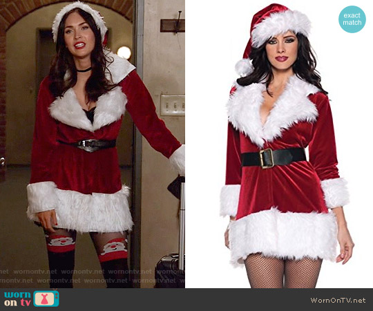 Secret Wishes Christmas Collection Ms. Santa In Training Costume worn by Megan Fox on New Girl