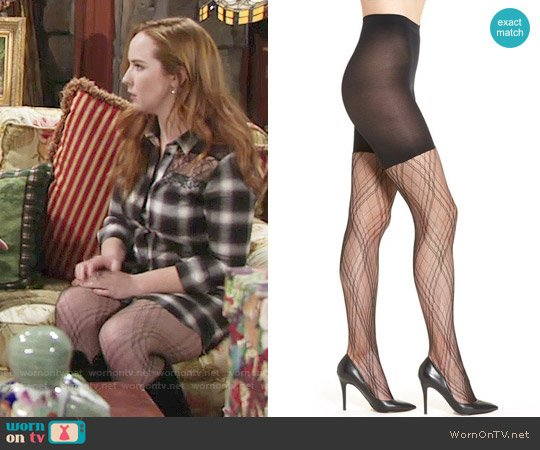 Spanx Plaid Lace Tights worn by Mariah Copeland on The Young & the Restless