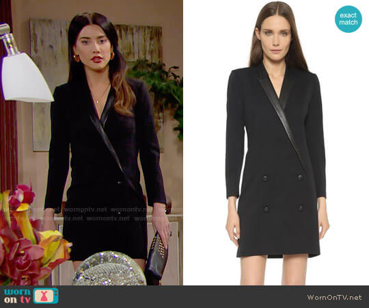 The Kooples Coat Shaped Dress worn by Steffy Forrester (Jacqueline MacInnes Wood) on The Bold & the Beautiful