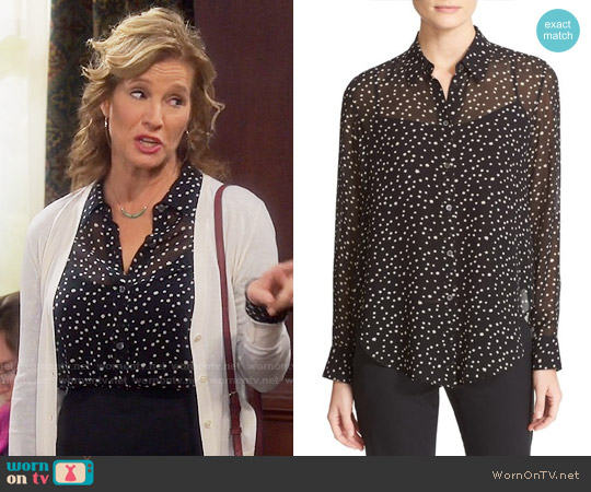 Theory Sunaya Star Print Blouse worn by Nancy Travis on Last Man Standing