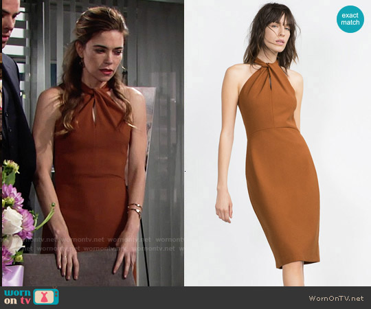 Zara Long Tube Dress worn by Amelia Heinle on The Young & the Restless