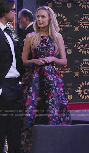 Abby's floral high-low gown on The Young and the Restless