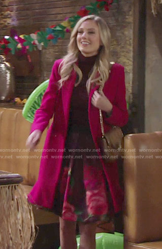 Abby's floral print skirt on The Young and the Restless