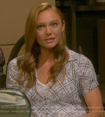 Abigail's tile print dress on Days of our Lives