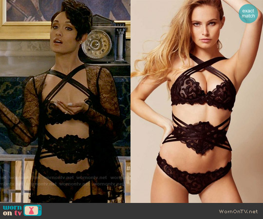 Agent Provocateur Raive Waspie Black worn by Anika Calhoun (Grace Gealey) on Empire