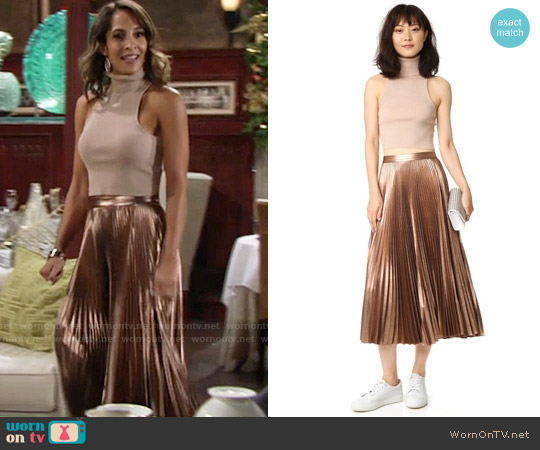ALC Presley Top and Bobby Skirt worn by Christel Khalil on The Young & the Restless