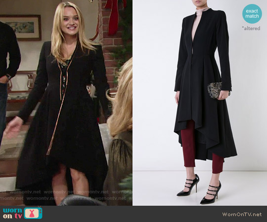 Alice + Olivia Alcina Coat worn by Summer Newman (Hunter King) on The Young & the Restless