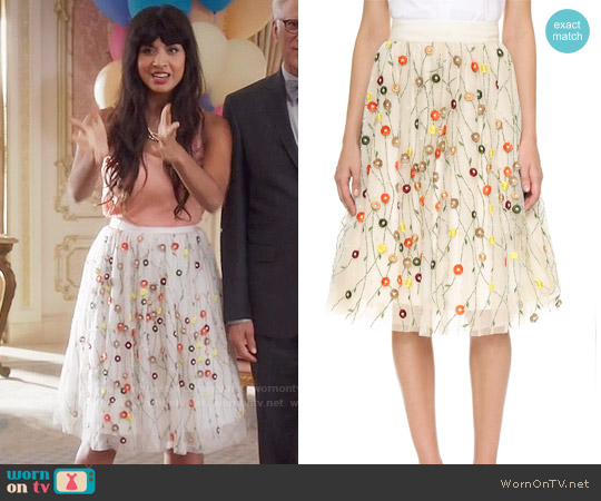 Alice & Olivia Catrina Skirt worn by Jameela Jamil on The Good Place