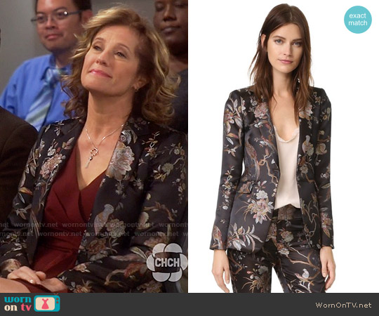 Alice + Olivia Macey Floral Blazer worn by Vanessa Baxter (Nancy Travis) on Last Man Standing