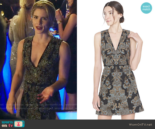 Alice & Olivia Pamela Dress worn by Emily Bett Rickards on Arrow