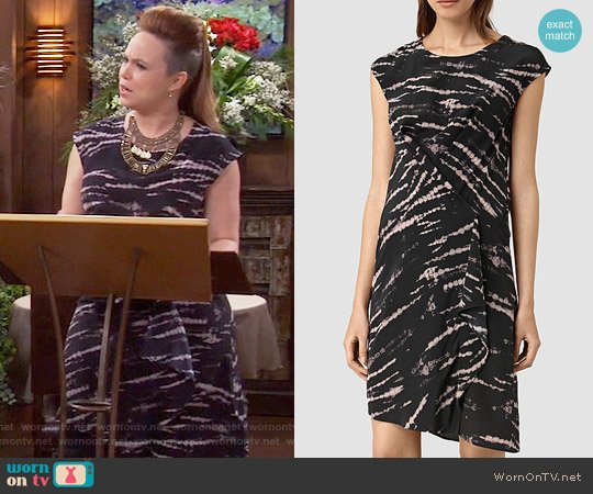 All Saints Breeze Tie Dye Dress worn by Kristin Baxter (Amanda Fuller) on Last Man Standing