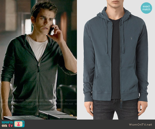 All Saints Brace Hoodie worn by Paul Wesley on The Vampire Diaries