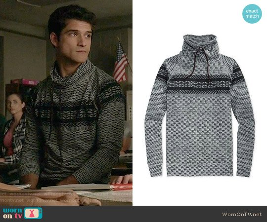 American Rag Fair Isle Fake Out Sweater worn by Tyler Posey on Teen Wolf
