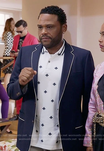 Andre's bee print polo shirt on Black-ish