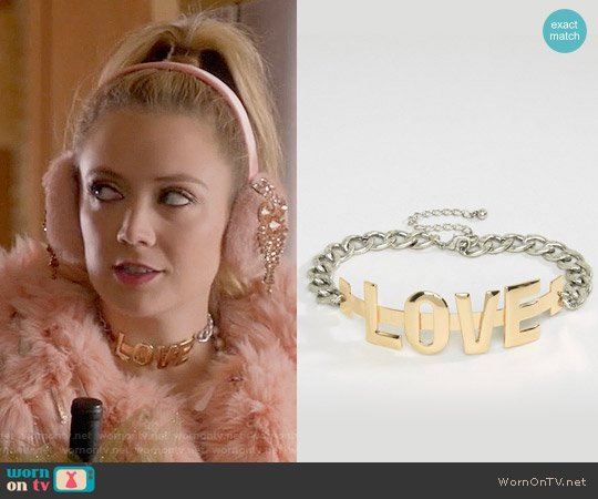 ASOS LOVE Choker Necklace worn by Chanel #3 on Scream Queens