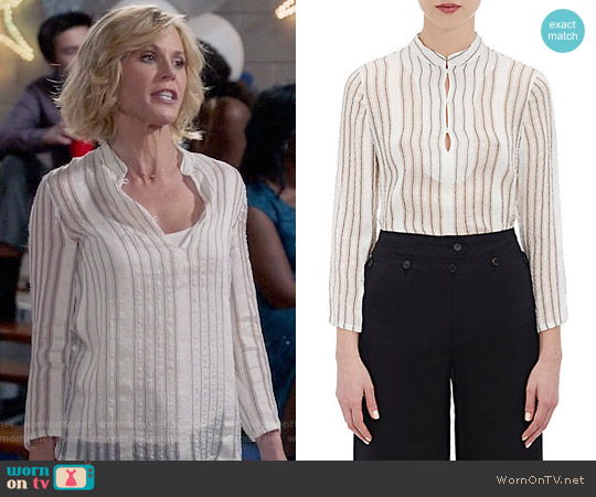 Barneys New York Washed Striped Tunic worn by Claire Dunphy (Julie Bowen) on Modern Family