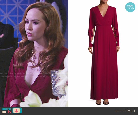 Bcbgmaxazria Doran Gown worn by Mariah Copeland (Camryn Grimes) on The Young & the Restless