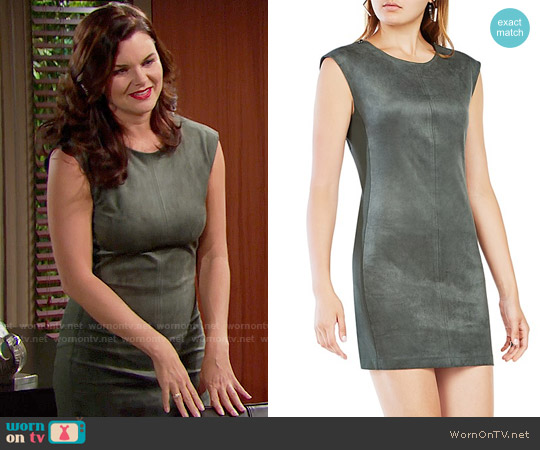Bcbgmaxazria Karlee Faux Suede Dress worn by Heather Tom on The Bold & the Beautiful