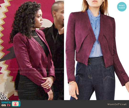 Bcbgmaxazria Luke Jacket worn by Hilary Curtis (Mishael Morgan) on The Young & the Restless