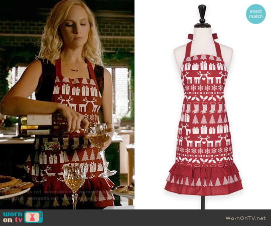 Bed Bath & Beyond Holiday Icons Apron worn by Caroline Forbes (Candice Accola) on The Vampire Diaries