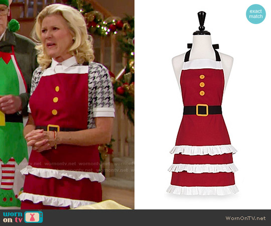 Bed Bath and Beyond Mrs Claus Apron worn by Pamela Douglas on The Bold & the Beautiful