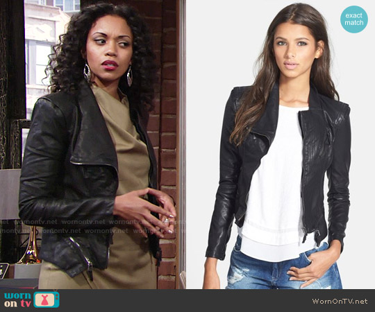 BlankNYC Faux Leather Jacket worn by Hilary Curtis on The Young & the Restless