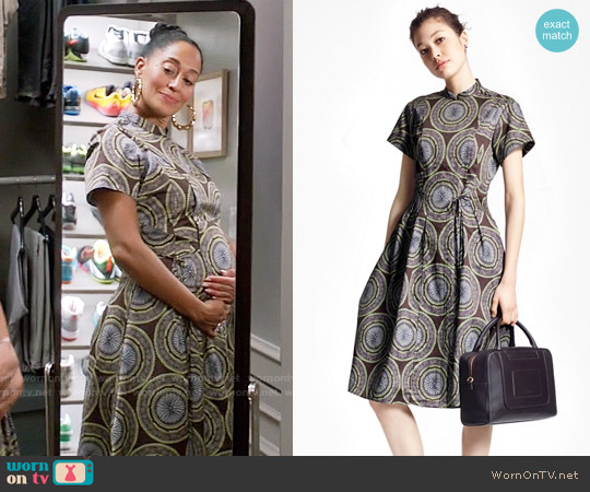 Brooks Brothers Medallion Shirt Dress worn by Tracee Ellis Ross on Blackish