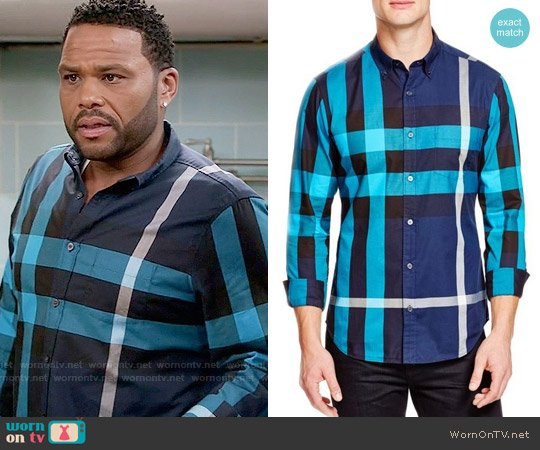 Burberry Fred Check Shirt worn by Andre Johnson (Anthony Anderson) on Blackish