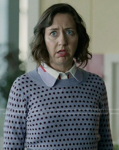 Carol's purple polka dot sweater on Last Man on Earth