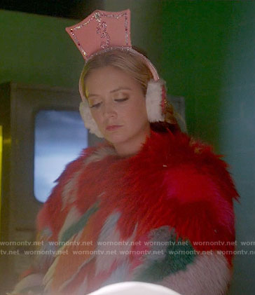 Chanel 3's multi colored fur coat on Scream Queens