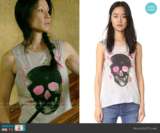 Chaser Dark Skull Tank worn by Joan Watson (Lucy Liu) on Elementary