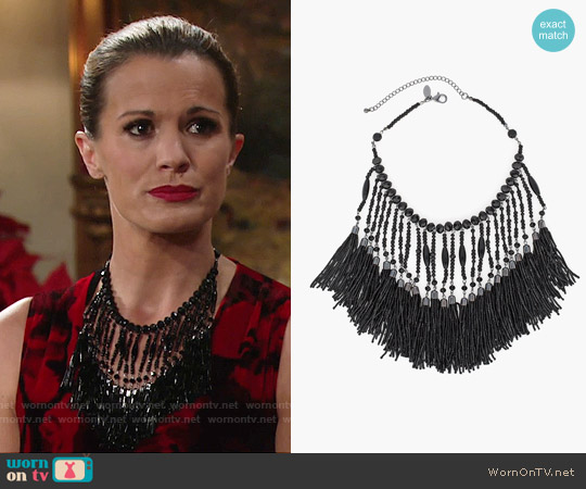 Chicos Eloise Bib Necklace worn by Chelsea Lawson on The Young & the Restless