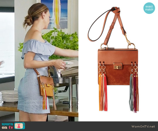 Chloe Jane Tassel Trim Crossbody Bag worn by Liza Miller (Sutton Foster) on Younger