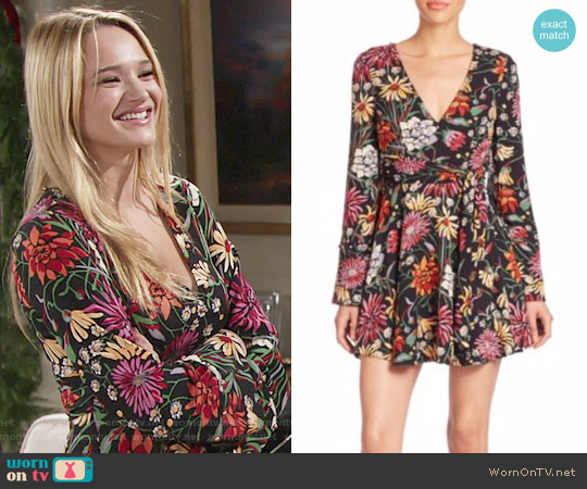 Cinq a Sept Bianca Dress worn by Hunter King on The Young & the Restless