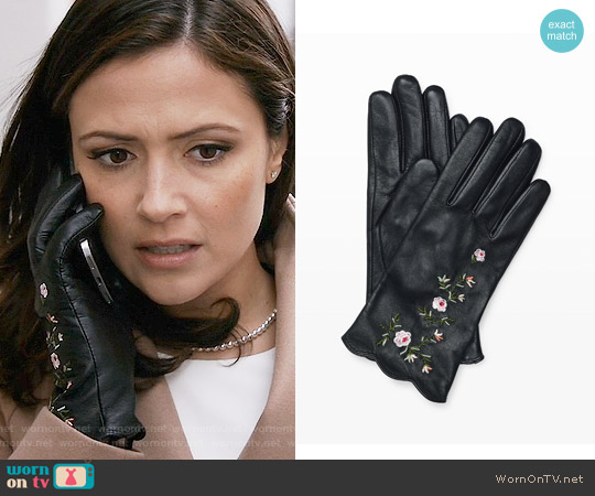 Club Monaco Vidita Embroidered Glove worn by Italia Ricci on Designated Survivor