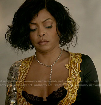 Cookie's sequinned frame print dress on Empire