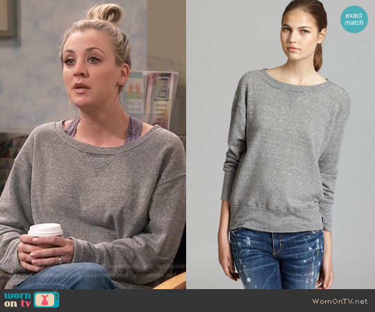Current Elliott The Stadium Sweatshirt worn by Penny Hofstadter (Kaley Cuoco) on The Big Bang Theory