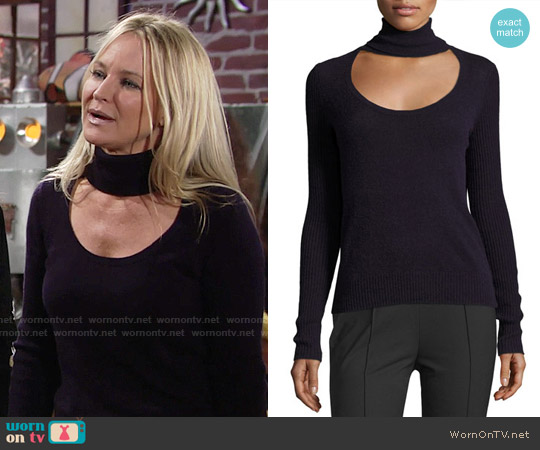 Diane von Furstenberg Gracey Sweater worn by Sharon Case on The Young & the Restless