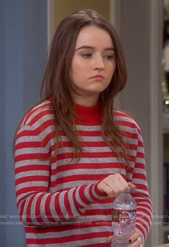 Eve's red striped sweater on Last Man Standing