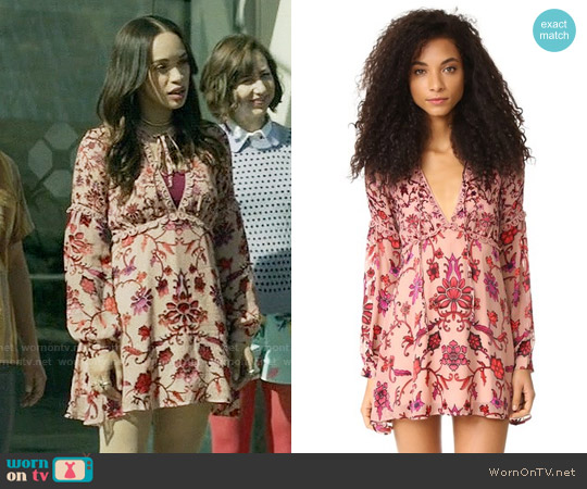 For Love & Lemons Saffron Mini Dress worn by Cleopatra Coleman on Last Man On Earth